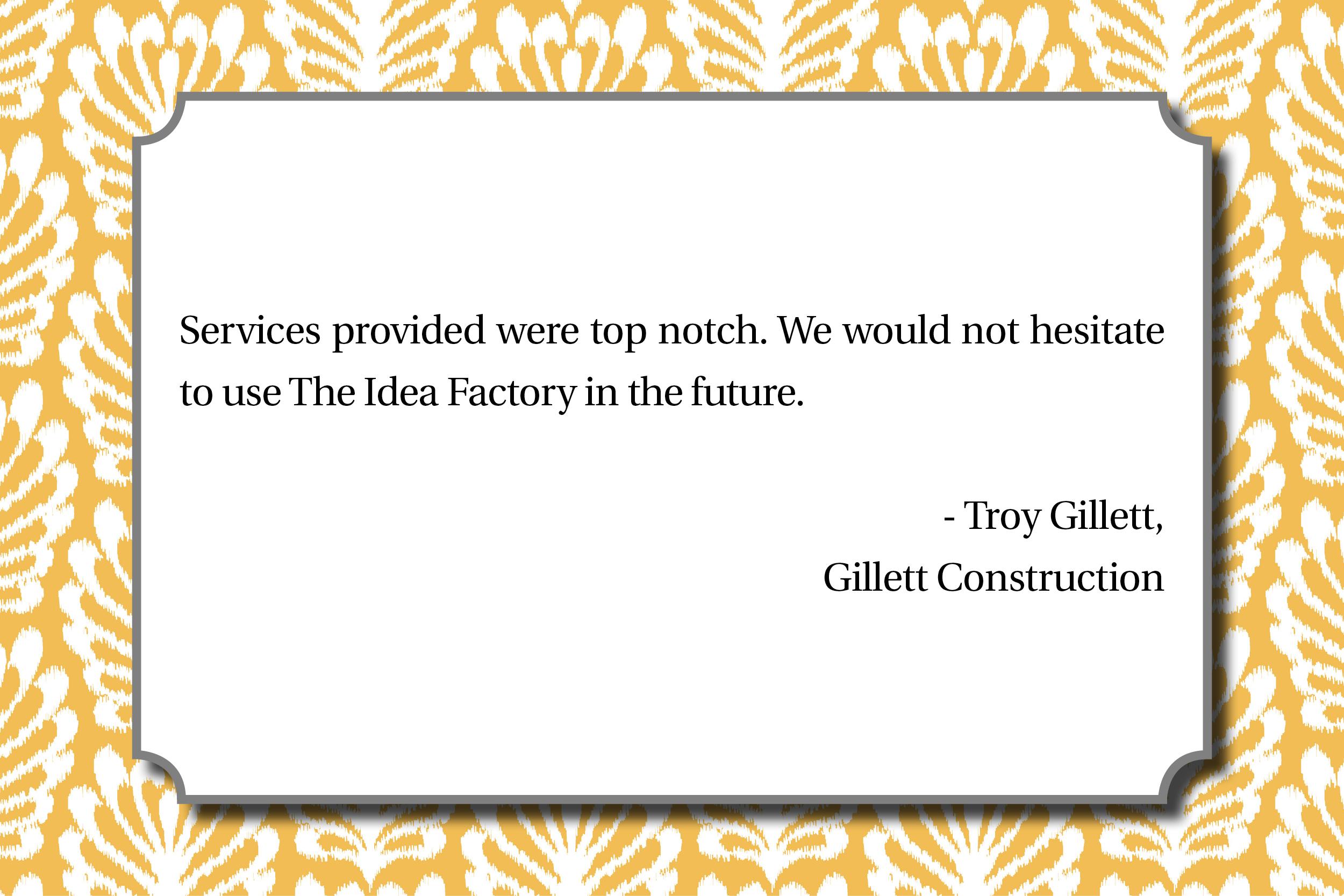 Gillett Construction - Troy Gillett