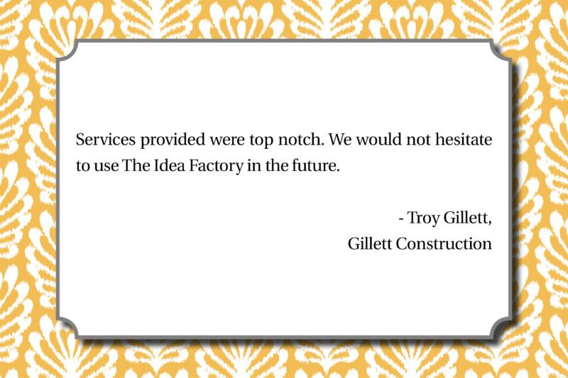 Love notes Gillett Construction - Troy Gillett