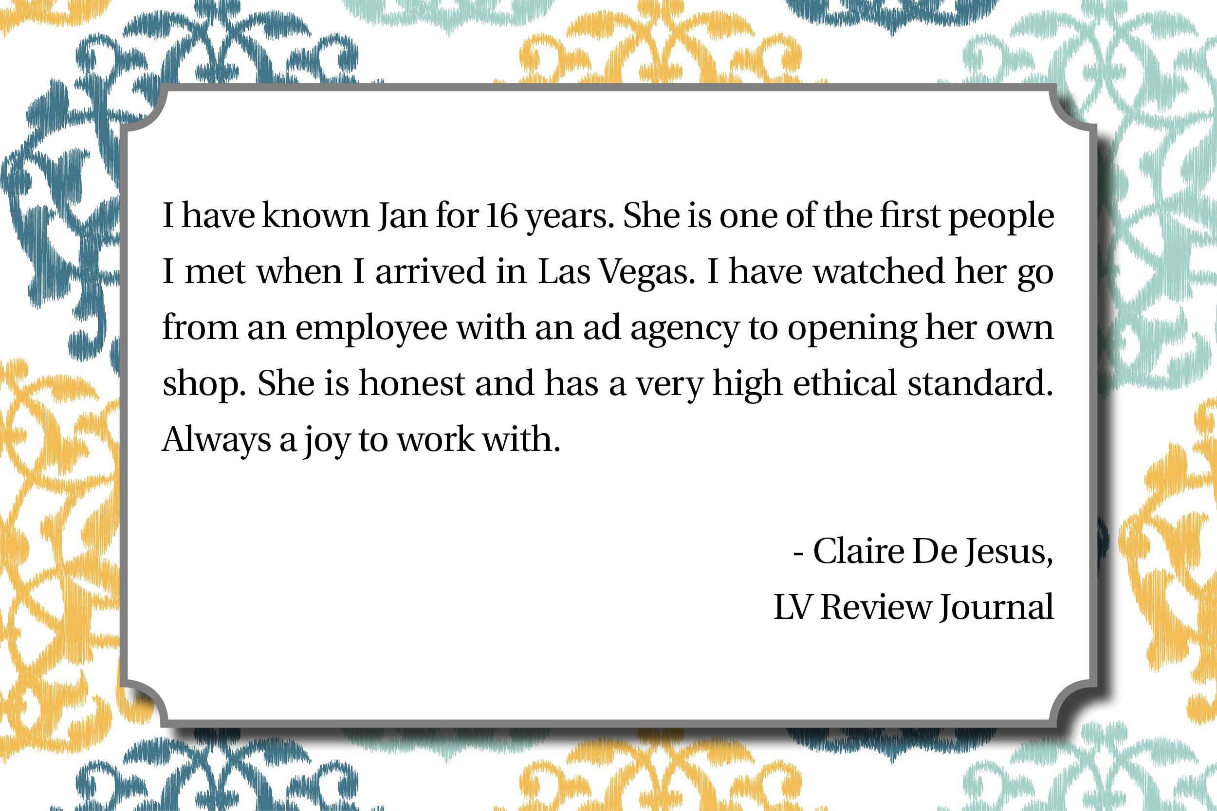 Love notes LV Review Journal - Claire De Jesus