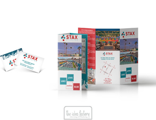 Stax Studios Trifold Brochure Design
